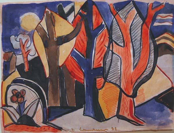 Fritz BRANDTNER - Woodland Scene (1931)