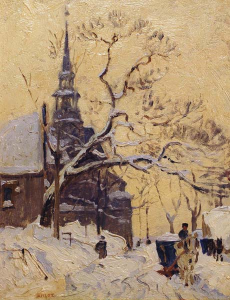 Jesuite Church, Quebec City (c. 1935) - Robert Pilot