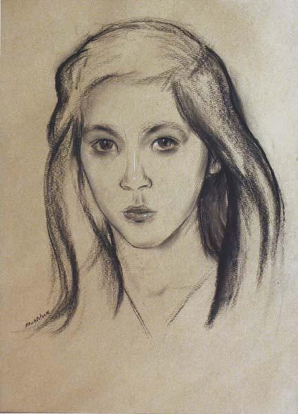 Portrait (c. 1945) - Louis Muhlstock