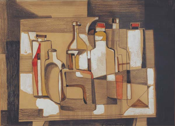 Fritz BRANDTNER - Bouteilles (c. 1945)