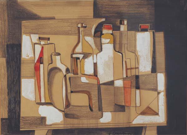 Fritz BRANDTNER - Bouteilles (c. 1945)