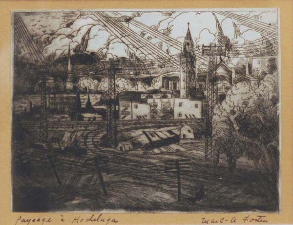 Paysage à Hochelaga (1930) - Marc-Aurèle Fortin