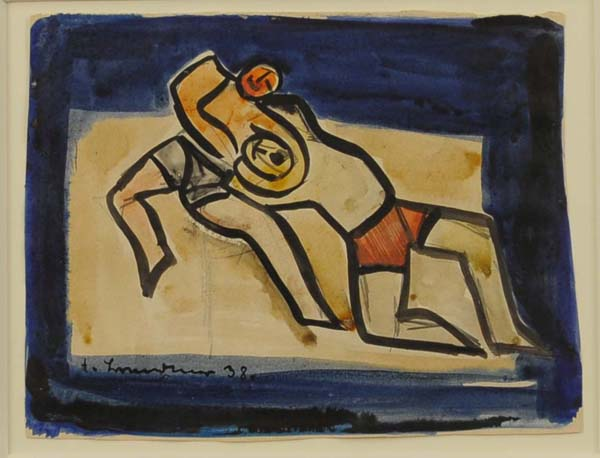 Fritz BRANDTNER - Wrestlers (1938)