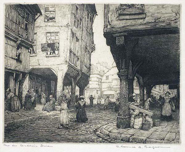 Clarence A. GAGNON - Rue des Cordeliers, Dinan (1907)
