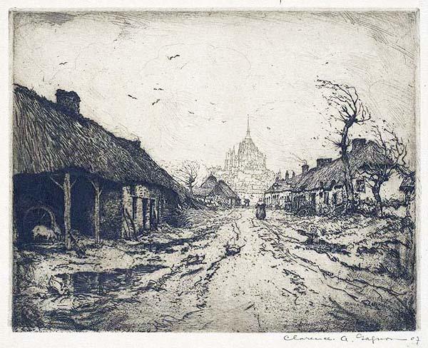 Clarence A. GAGNON - Mont St. Michel (1907)