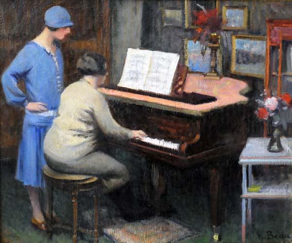Henri BEAU - Mme Beau en répétition (c. 1920)