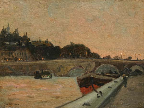 James Wilson MORRICE - Along The Seine, Paris (c. 1900)