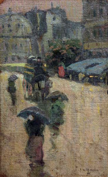 James Wilson MORRICE - Paris Street Scene (c. 1900)