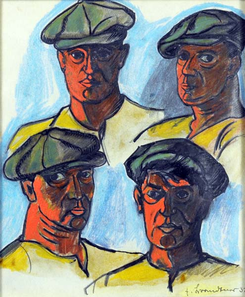 Fritz BRANDTNER - Four Heads of Workers (1932)