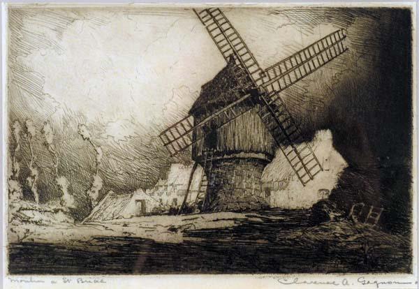 Clarence A. GAGNON - Vieux moulin à St. Briac (1907/1908)