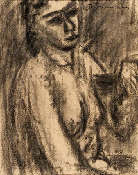 Jacques DE TONNANCOUR - Femme assise (c. 1943)