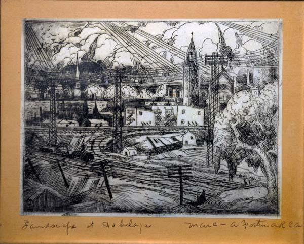 Marc-Aurèle FORTIN - Landscape at Hochelaga (1930)