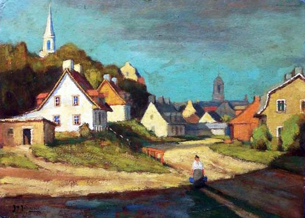 John Young JOHNSTONE - Ste-Anne de Beaupr� (C. 1914)