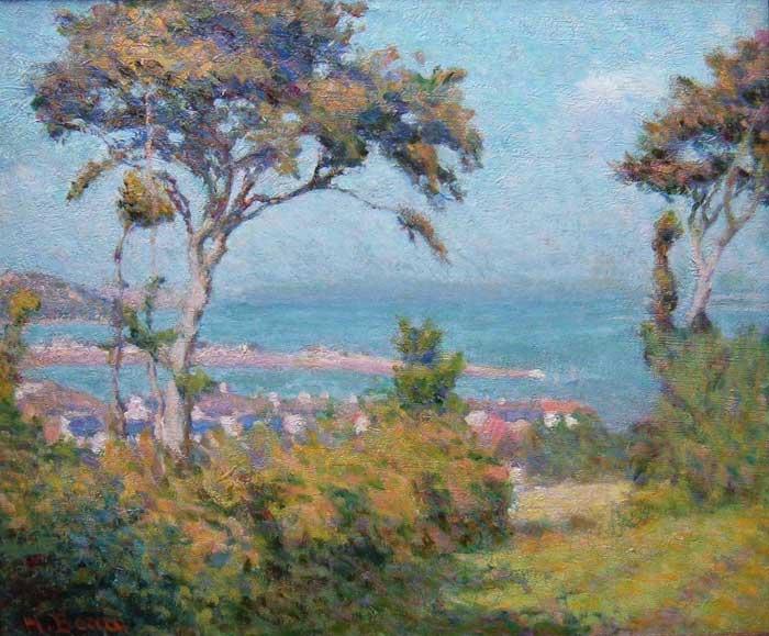 Henri BEAU - Village en bord de mer (c. 1920)