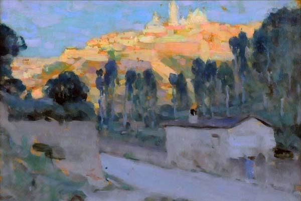 Clarence A. GAGNON - Sienne, le soir (c. 1911)