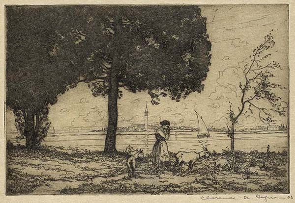 Clarence A. GAGNON - Isola San Burano (1906)