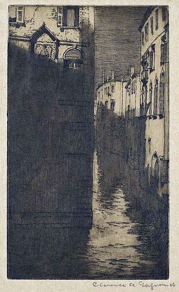 Clarence A. GAGNON - Moonlight, Venice (1909)