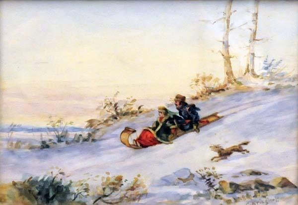 Cornelius KRIEGHOFF - Tobogganing (1855)
