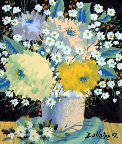 Jean DALLAIRE - Nature morte au pot de fleurs (1952)