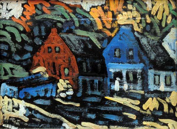 Marc-Aurèle FORTIN - Vieilles maisons (1942)