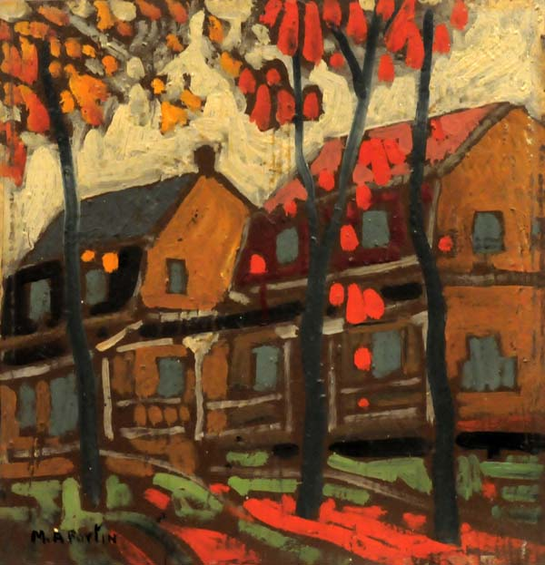 Quebec Street Scene (c. 1938) - Marc-Aurèle Fortin