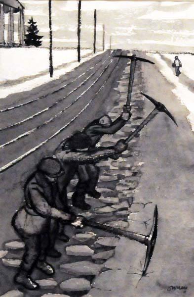 Philip SURREY - Sans titre (Briseurs de glace) c. 1953