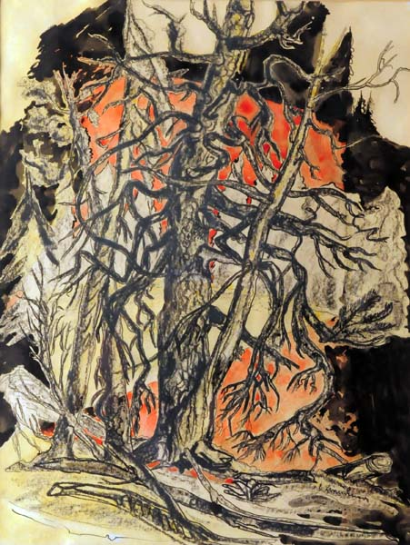 Study of Trees, Georgian Bay (c. 1938) - Fritz Brandtner