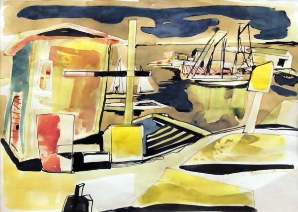 Fritz BRANDTNER - Gaspé Harbour (c. 1950)
