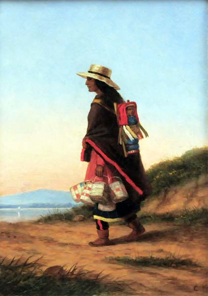 Cornelius KRIEGHOFF - The Basket Seller (c. 1860)
