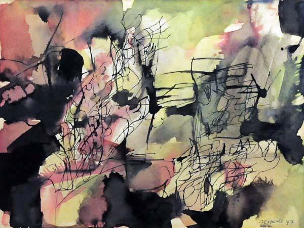Jean-Paul RIOPELLE - Jardin nocturne (1947)