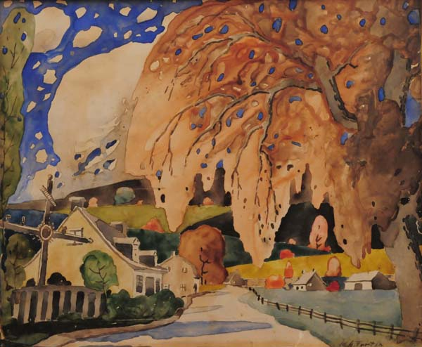 Croix de chemin en automne (c. 1922) - Marc-Aurèle Fortin