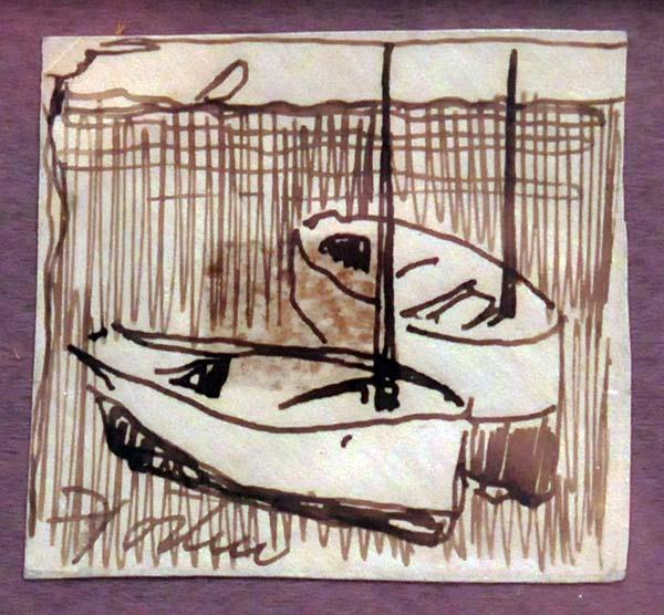 Bateaux (c. 1950) - Marc-Aurèle Fortin
