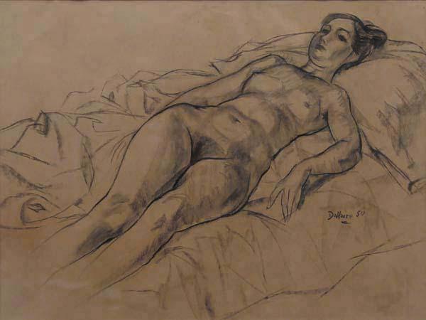 Jean DALLAIRE - Sans titre (Nu couché) 1950