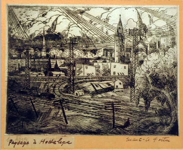 Marc-Aurèle FORTIN - Paysage à Hochelaga (c. 1930)