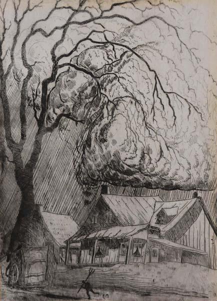Marc-Aurèle FORTIN - Sans titre (Avant l orage) c. 1930
