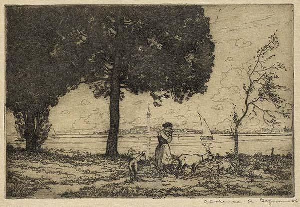 Clarence A. GAGNON - Isola San Burano, Venice (1906)