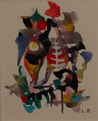 Léon BELLEFLEUR - Sans titre (1957)