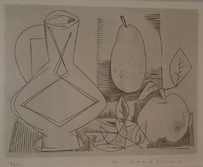 Paul-Vanier BEAULIEU - Carafe, poire, pomme