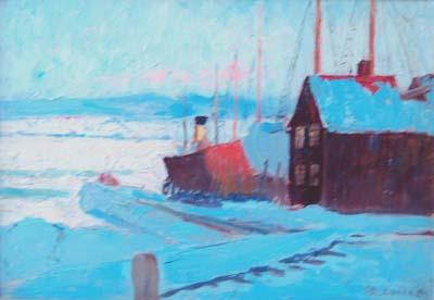 Sur le St-Laurent, Québec (1896) - Maurice Cullen