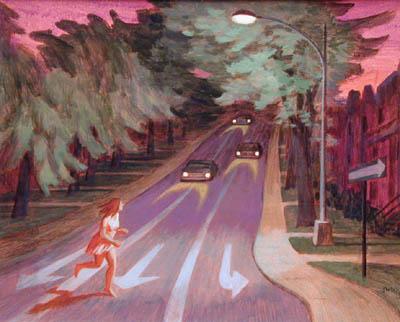 Philip SURREY - Victoria Avenue at night, 1965