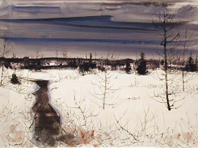 Paysage d'hiver (1957) - Jacques de Tonnancour