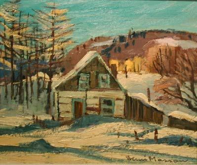 Henri MASSON - Vieille cabine, Montpelier, Qc. 1974