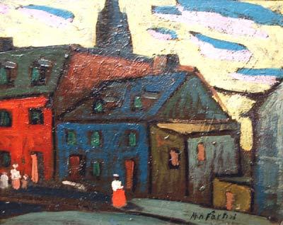 Marc-Aurèle FORTIN - Vieux Montreal (c.1922)