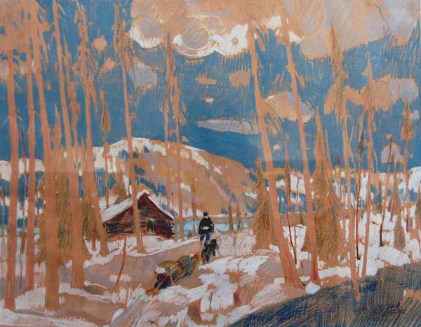 René RICHARD - Trappeurs en hiver (c.1945)
