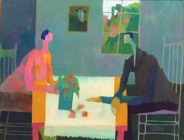 Claude LESAUTEUR - Déjeuner fleuri (1984)