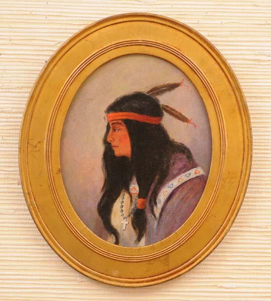 Zacharie VINCENT DIT TEHARIOLIN - Huronne de Lorette (c. 1885)
