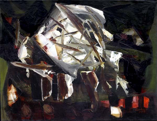 Paul-Émile BORDUAS - 15.47 ou Crâne cornu aux enfers (1947)