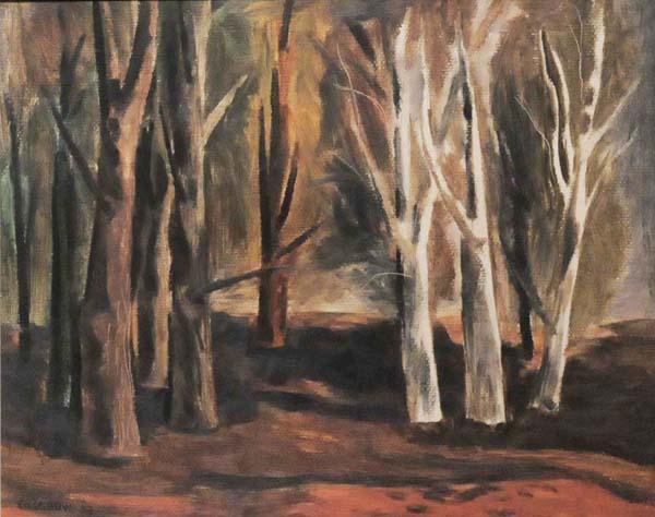 Stanley COSGROVE - Arbres en automne (1950)