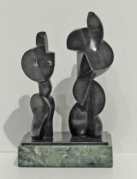 Jim RITCHIE - Deux personnages cubistes