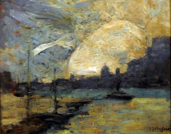 John Young JOHNSTONE - Montreal Harbour (1912)